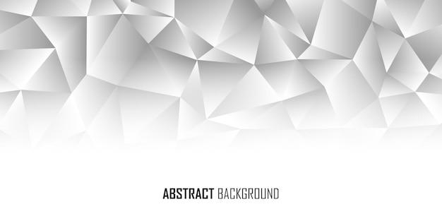 Abstrakte monotone low-poly-banner-hintergrund-vektor-illustration