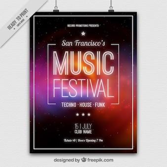 Abstrakte musik-festival-plakat
