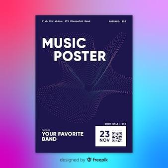 Abstrakte musik plakat vorlage