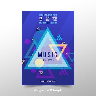 Abstrakte musikfestival-plakatschablone