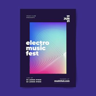 Abstrakte musikplakatschablone