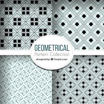 Abstrakte muster aus geometrischen formen