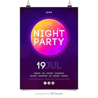 Abstrakte nacht party plakat vorlage