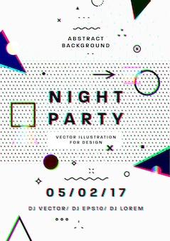 Abstrakte nacht party vorlage