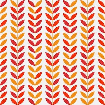 Abstrakte nahtlose blätter muster hintergrund. vektor-illustration.