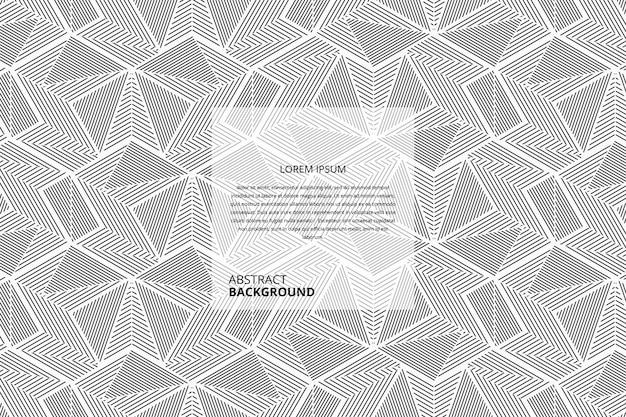 Abstrakte nahtlose dreieck linien muster hintergrund