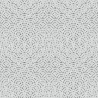 Abstrakte nahtlose muster japanischer vintage-stil geometrische elemente ornament weißen hintergrund