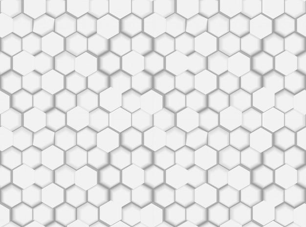 Abstrakte nahtlose sechseckige muster-beschaffenheit mit hexagonen 3d und schatten