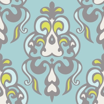 Abstrakte nahtlose vintage luxus dekorative vektormuster für stoff.