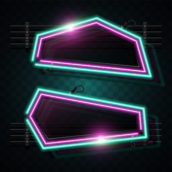 Abstrakte neon-banner