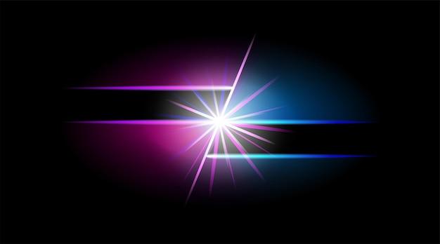 Abstrakte neon-web-banner vektor futuristische vorlage