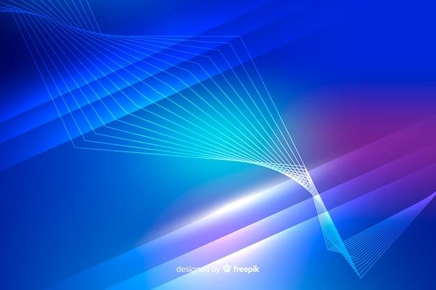 Abstrakte neonlichtlinien hintergrund
