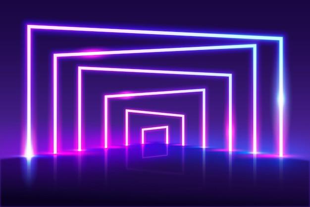 Abstrakte neonlichttapete