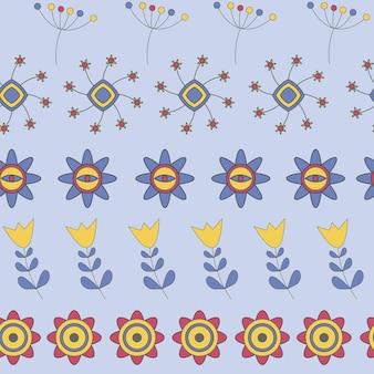 Abstrakte nette hintergrund-blumen-nahtlose muster-vektor-illustration
