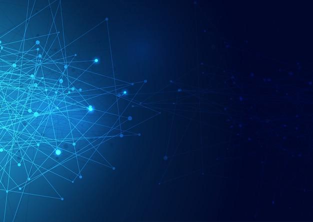 Abstrakte netzwerkverbindungen hintergrund