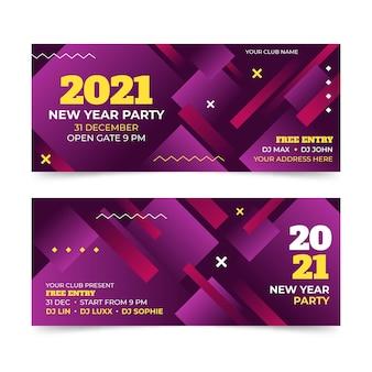 Abstrakte neujahrsfeier 2021 party banner vorlage