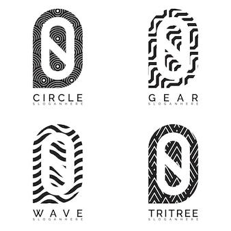 Abstrakte nummer logo sammlung