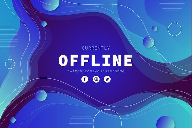 Abstrakte offline zuckende bannerschablone