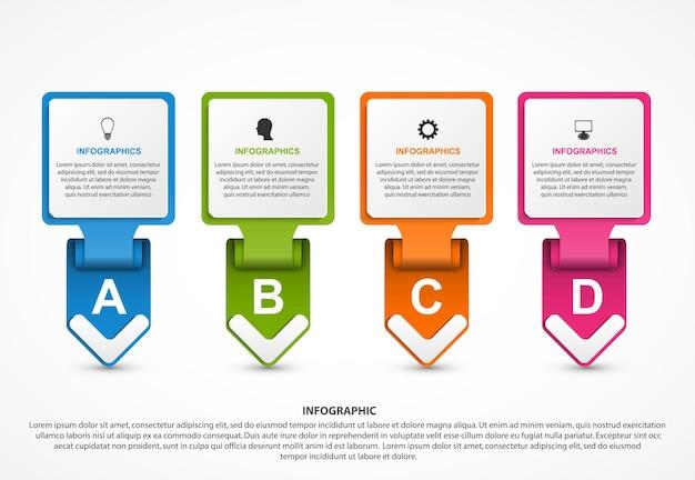 Abstrakte optionen infografiken vorlage infografiken