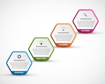Abstrakte Optionen Infografiken Vorlage.