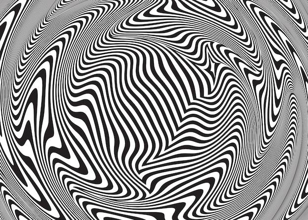 Abstrakte optische täuschung. verdrehter gewundener hintergrund