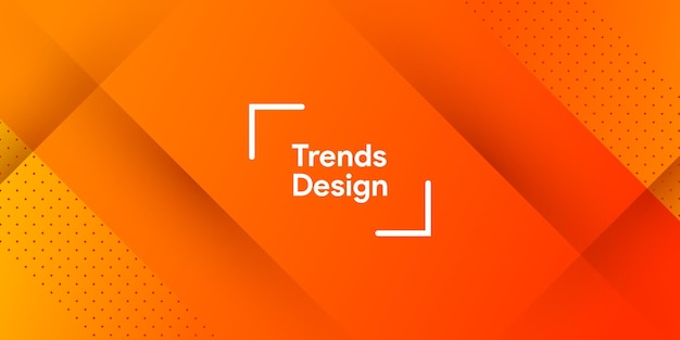 Abstrakte orange farbe des farbverlaufs in modernem minimalem hintergrund