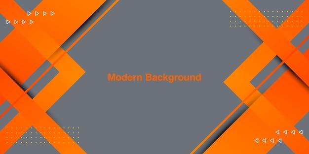 Abstrakte orangefarbene steigungslinie mit streifenhintergrund