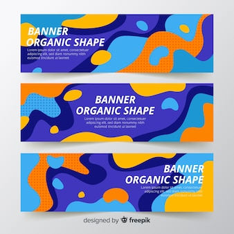 Abstrakte organische formenfahnen