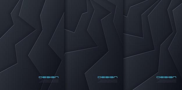 Abstrakte papierschnitt-hintergründe, futuristische cover-designs, trendige broschürenvorlagen. globale farbfelder.