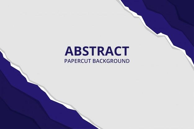 Abstrakte papierschnitt-hintergrundtapete in der weißen marinefarbe