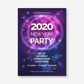 Abstrakte party-plakatschablone des neuen jahres 2020