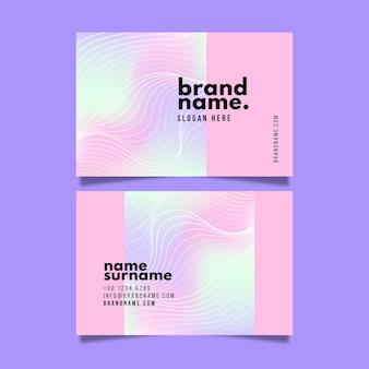 Abstrakte pastellfarbene design-visitenkarten