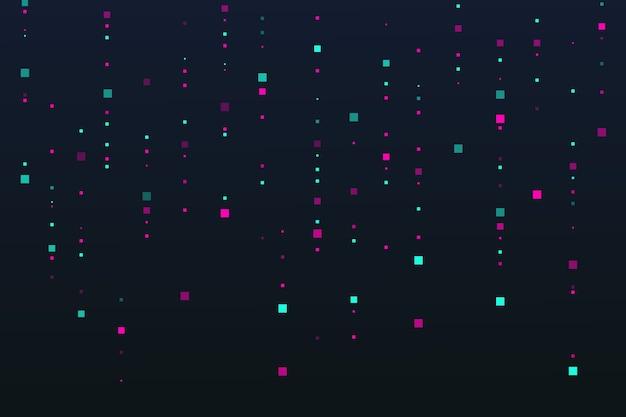 Abstrakte pixel regentapete