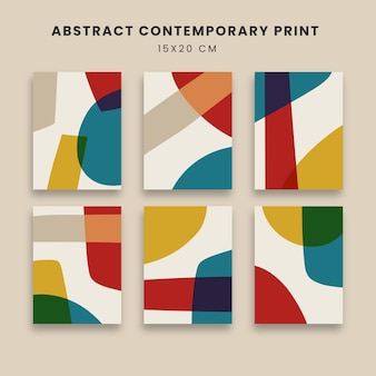 Abstrakte plakatkunstkunst mit geometrischen formen