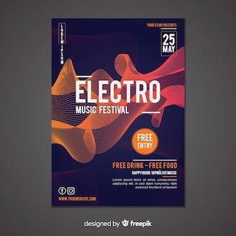 Abstrakte plakatschablone der elektronischen musik
