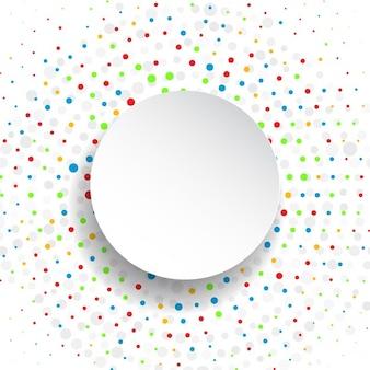 Abstrakte polka dot hintergrund mit ronde etikett