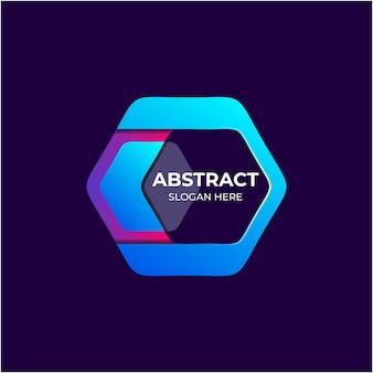Abstrakte polygon-farbverlaufs-logo-vorlage