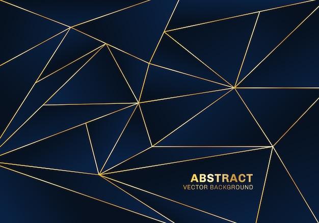 Abstrakte polygonale hintergrundluxusart