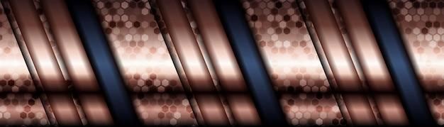 Abstrakte polygonale musterluxusblau mit gold.