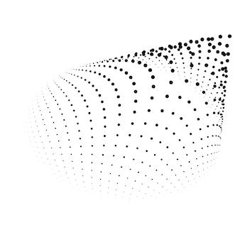Abstrakte punkte partikel vektor hintergrund