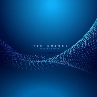 Abstrakte punkte wave-technologie hintergrund netz