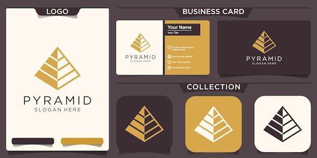 Abstrakte pyramide-logo-vorlage. fortschritts-geschäftssymbol
