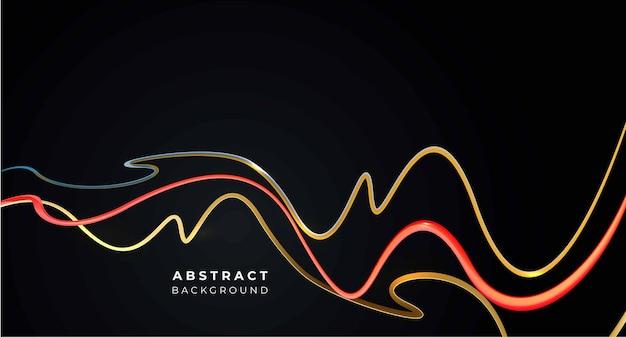 Abstrakte regenbogenwellenlinie mit platz für ihren text, vektorillustration.