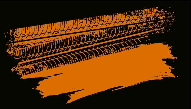 Abstrakte reifenspur markiert hintergrund