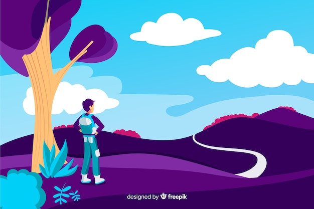 Abstrakte reise-landingpage