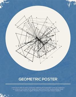 Abstrakte retro geometrische plakatschablone.