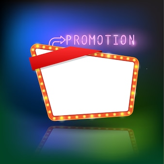 Abstrakte retro-licht-promotion-banner