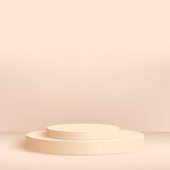 Abstrakte rosa geometrische 3d podien.