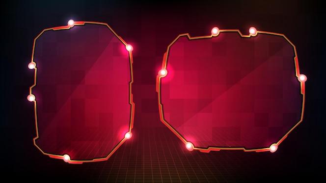 Abstrakte rot leuchtende sci-fi-rahmen hud