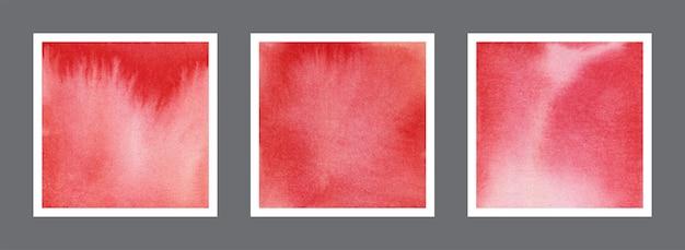 Abstrakte rote aquarellhintergrundsammlung